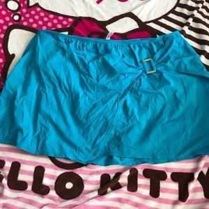 Blue Lane Bryant swim skirt size 28